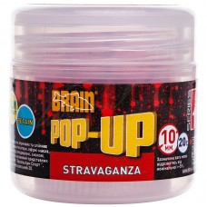 Бойлы Brain Pop-Up F1 Stravaganza (клубника с икрой) 10мм