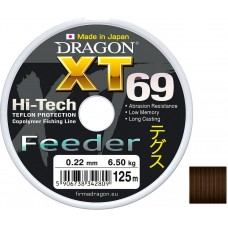 Леска Dragon XT69 Hi-Tech Feeder 125м 0,22мм