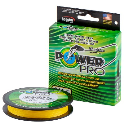 Плетеный шнур Power Pro 135m Hi-Vis Yellow 0.06mm 3kg