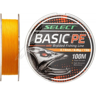 Плетеный шнур Select Basic PE 100m 0.16mm/6.8kg orange