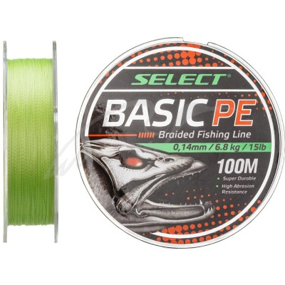 Плетеный шнур Select Basic PE 100m 0.16mm/6.8kg light green