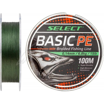 Плетеный шнур Select Basic PE 100m 0.10mm/4.8kg dark green