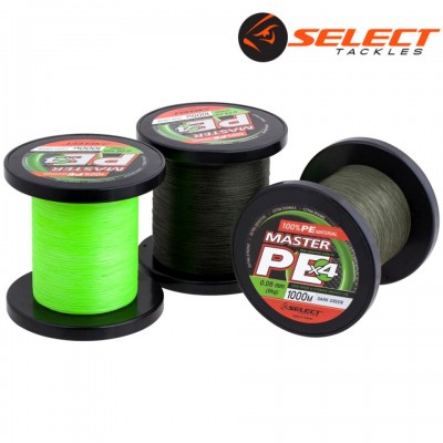 Плетеный шнур Select Master PE 1000m 0,18mm/21kg light green