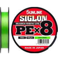 Плетеный шнур Sunline Siglon PEx8 150m #0.4/0.108mm light green
